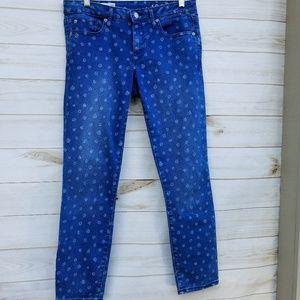 Gap Always Skinny 28R daisy print jeans